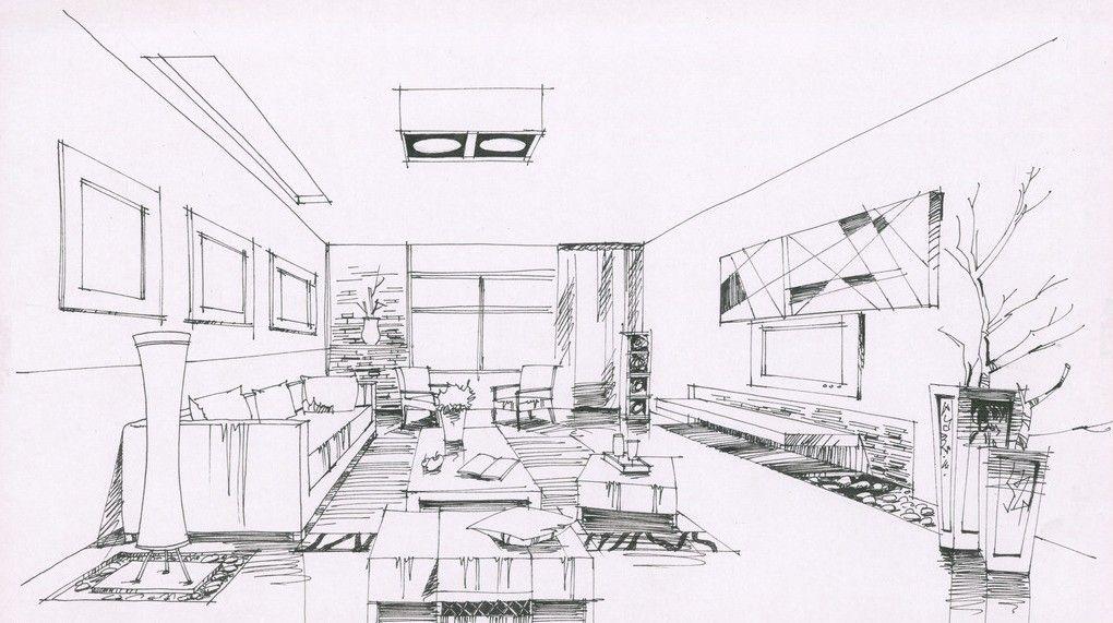 living sketch idea Pinterest Interior design