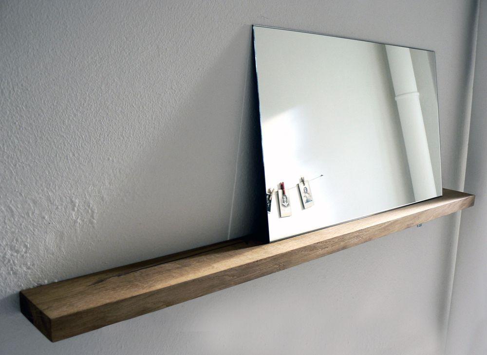 Klotzholz spiegel mit ablage interior badezimmer for Spiegel ablage badezimmer