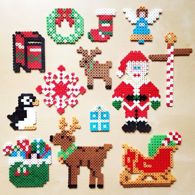 christmas perler beads by funwithmyson - Perler Beads Christmas