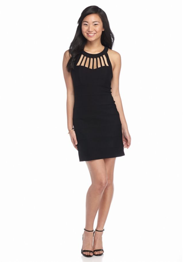 Trixxi Cage Neckline Sheath Dress - Belk.com