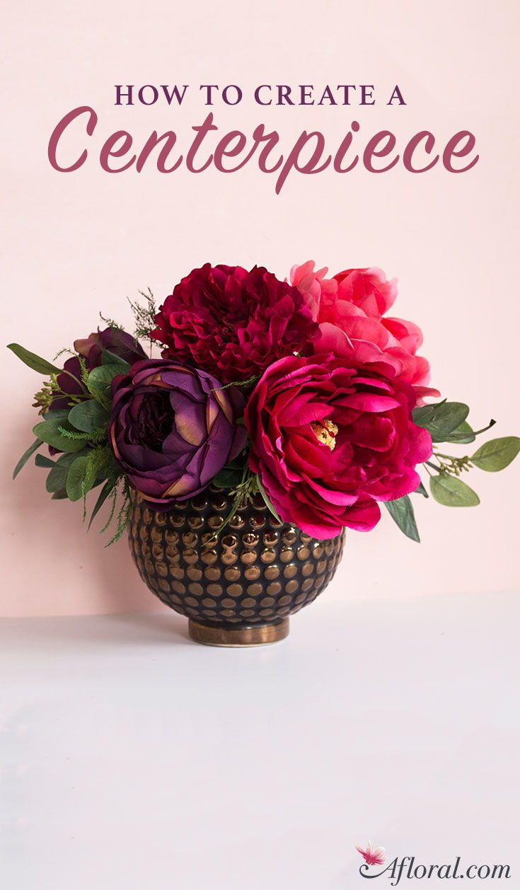 how to make a centerpiece with fake flowers