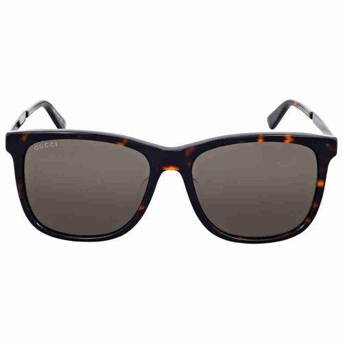 5f399105bcd88 Gucci Dark Havana Square Sunglasses, Women s, Size  Lens-56 Bridge-17  Temple-150mm, Havana Ruthenium
