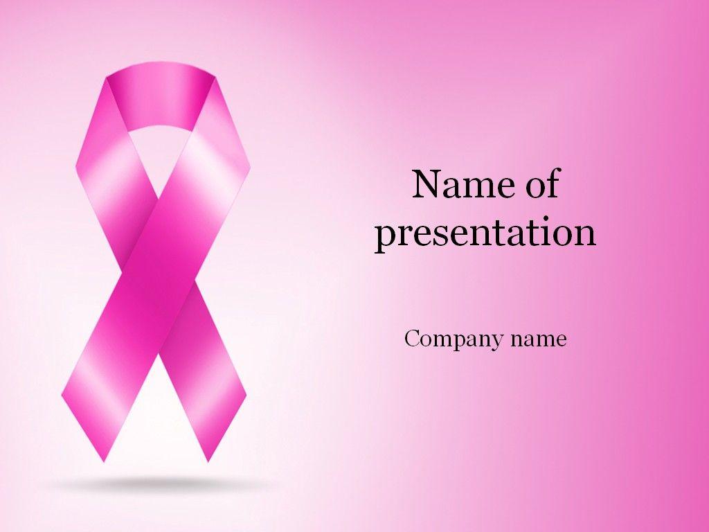 Cancer Ribbon PowerPoint Template | Templates | Pinterest