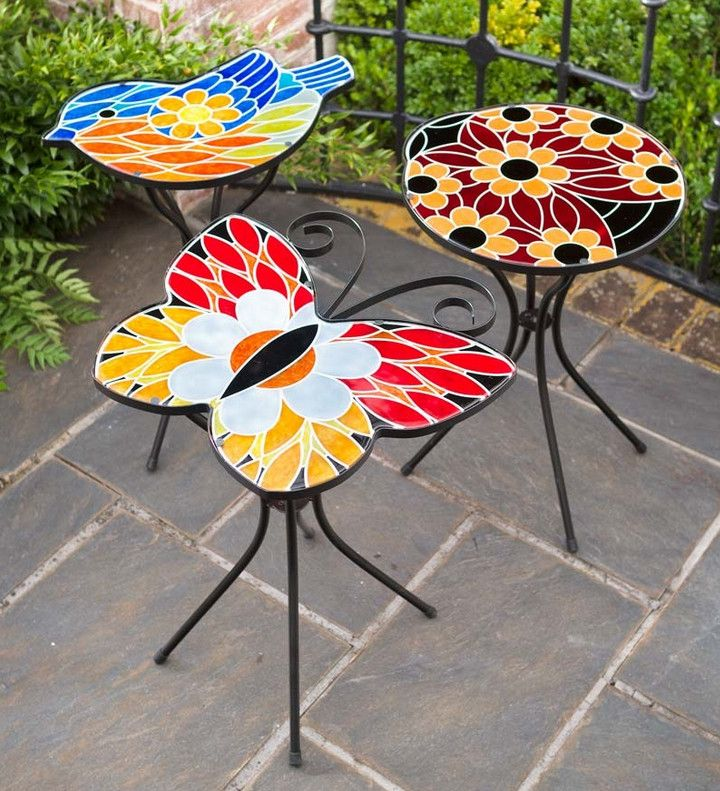 Mosaic Side Table Outdoor