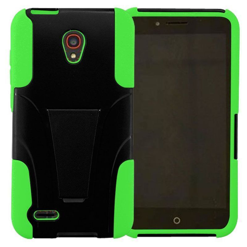 Insten Hard PC/ Dual Layer Hybrid Phone Case Cover with Stand For Alcatel One Touch Conquest