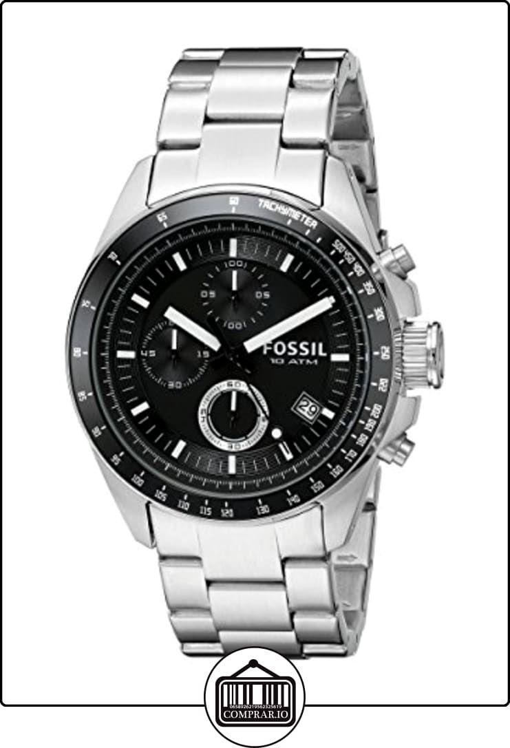 15626c9fbb30 Fossil CH2600 - Reloj analógico de cuarzo para hombre con correa de acero  inoxidable