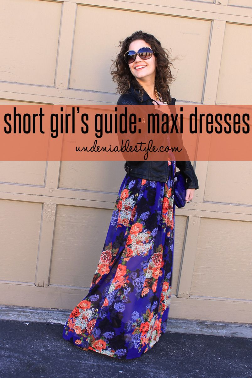 Short girl maxi dress
