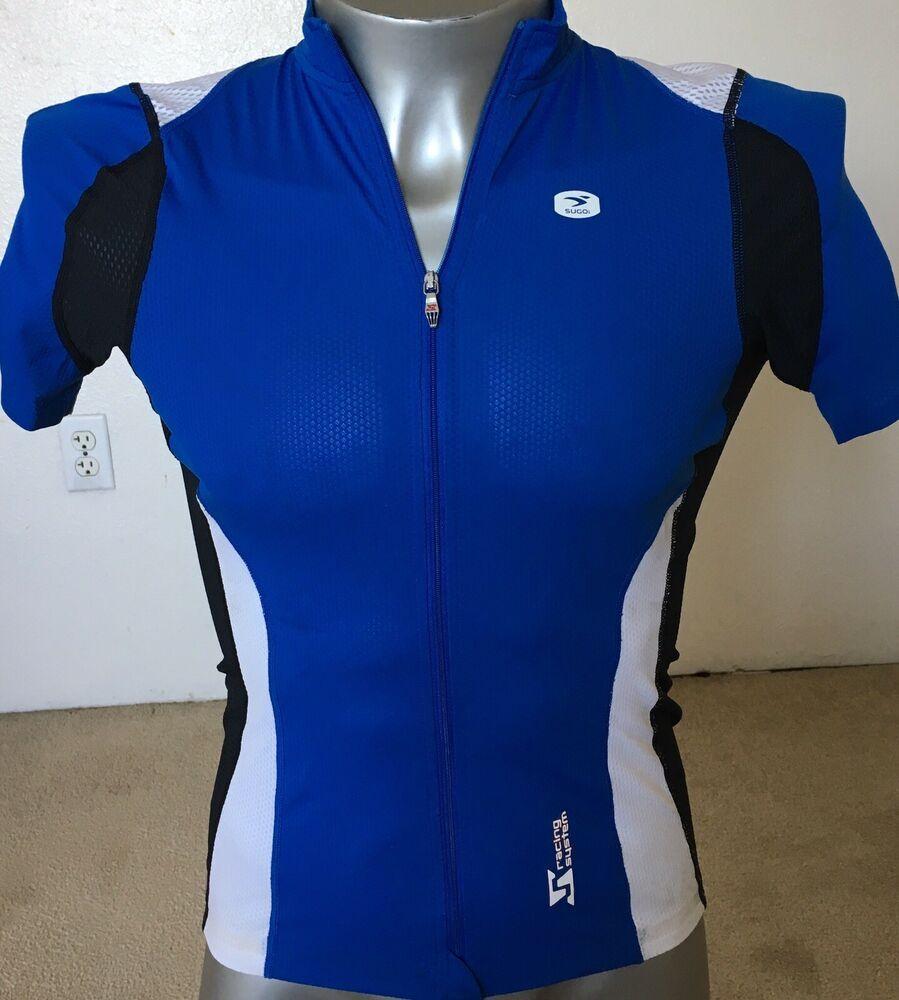 Sponsored Ebay Sugoi Cycling Jersey L Bright Blue Black