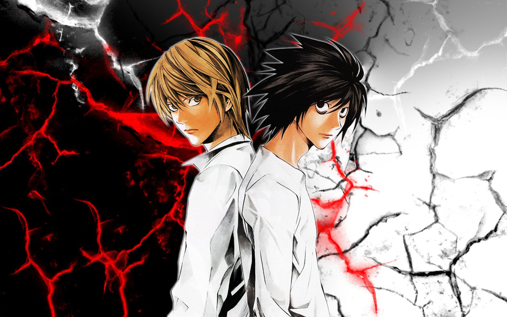 Deathnote Light and L HD Wallpaper Download HD