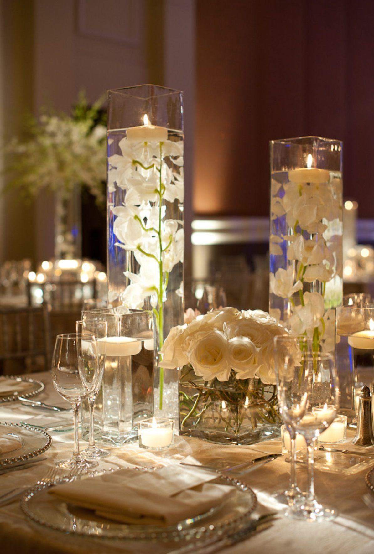 Tall vases with candles wedding pinterest tall vases tall vases with candles wedding reception centerpiecestall reviewsmspy