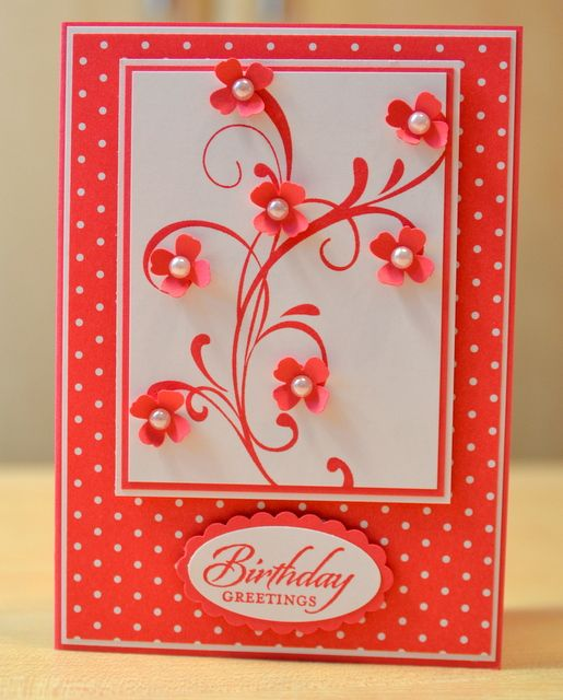 I Made This Card For My First Making Video Tutorial That Uploaded Onto YouTube