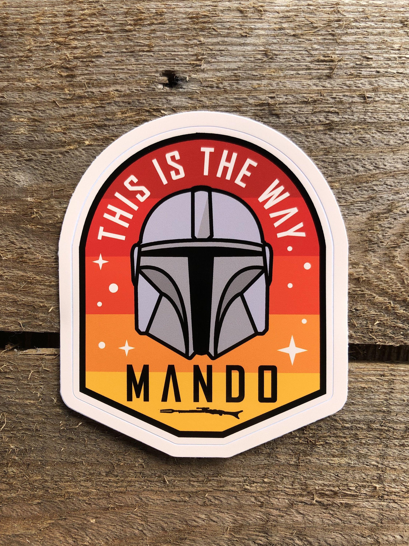 Baby Yoda Star Wars The Mandalorian Vinyl Decal Window Sticker Disney Resistance