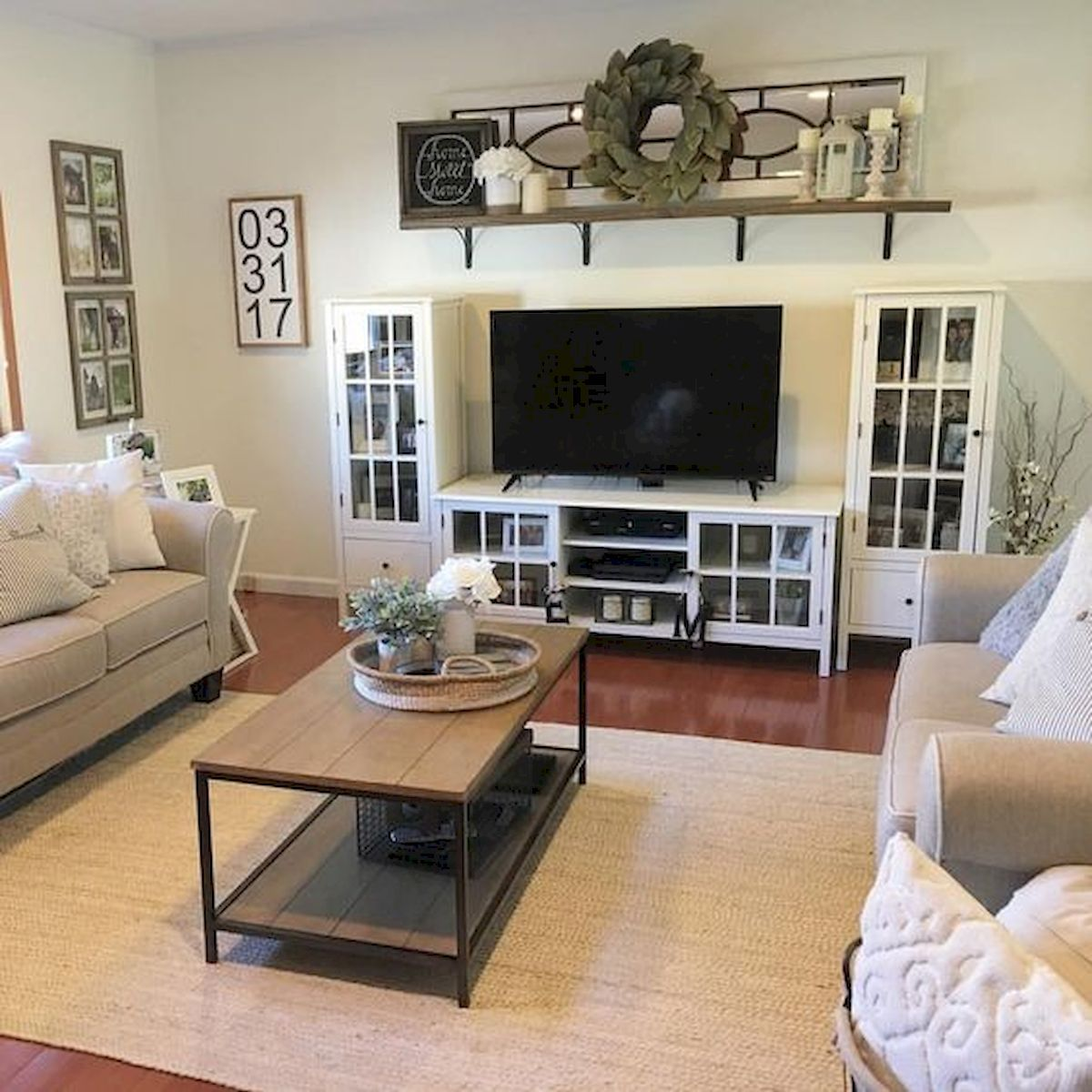 33 Best Farmhouse Living Room TV Stand Design Ideas images