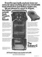 Subaru G 1971 Ad Picture