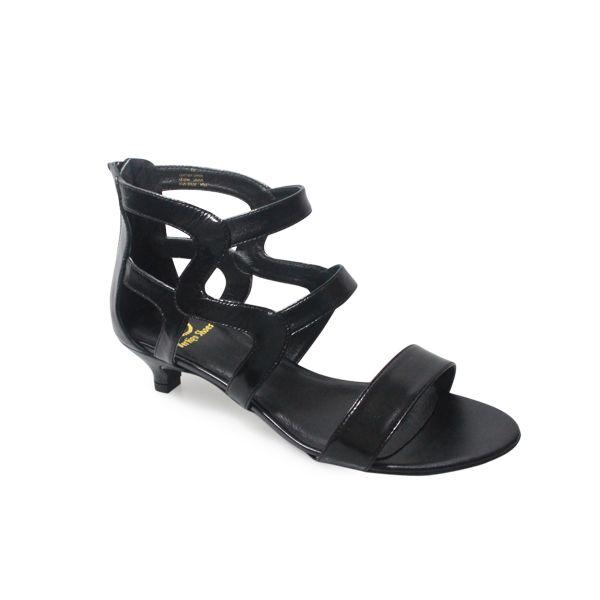 Wide Kitten Heels 9 Black