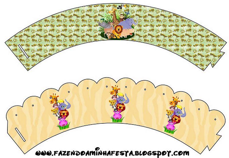 Ideas y material gratis para fiestas y celebraciones Oh My Fiesta!: Cajitas imprimibles de la Selva.