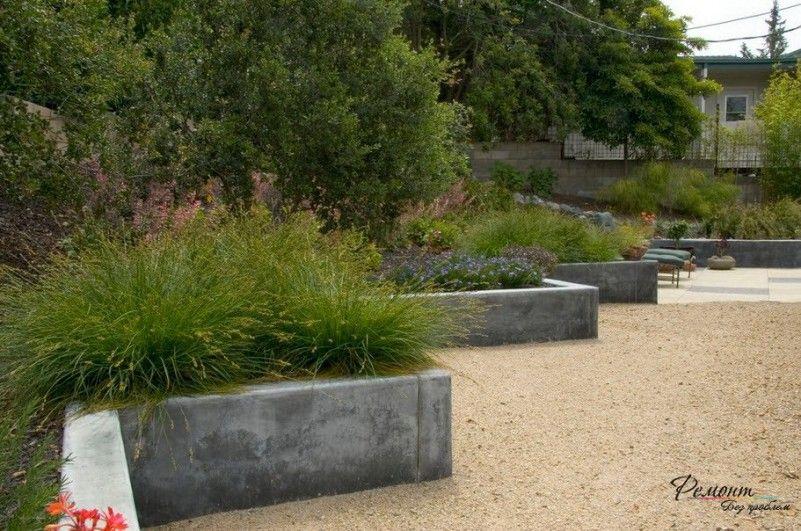 Zig Zag Concrete Retaining Wall Design To Beautify Your Garden Ideas Well Built Retaining Walls Desi Concrete Retaining Walls Modern Landscaping Planter Design