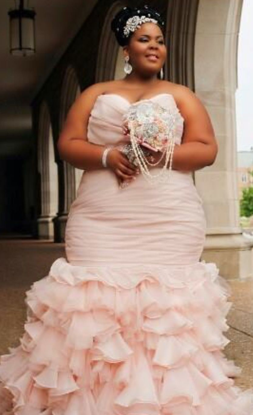 Gorgeous Plus Size Maggie Sottero Designs Wedding Dress This Blushing Bride Surely Was The Center Of Everyone S Attention