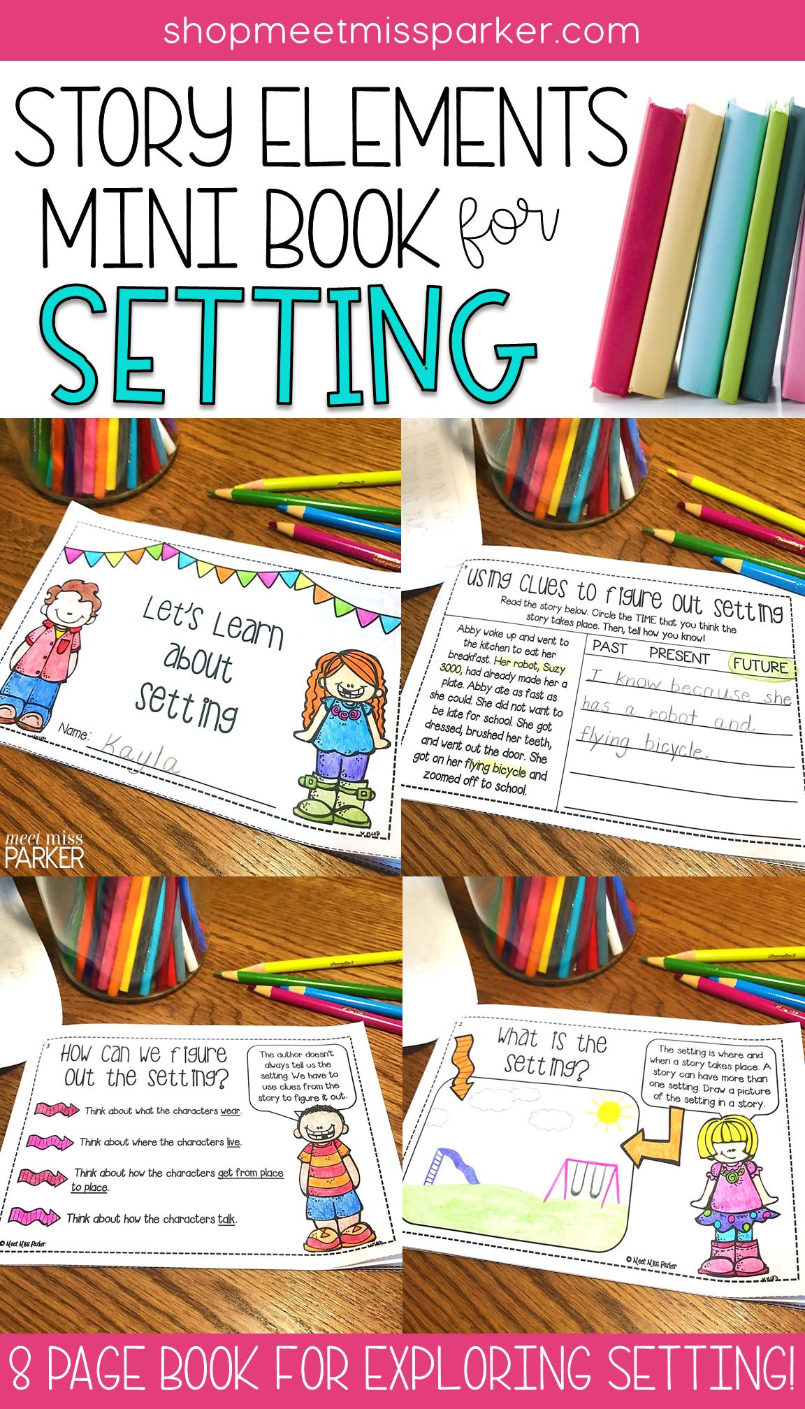 Story Elements Setting Mini Book