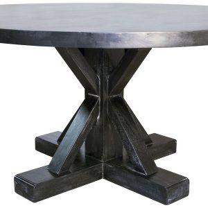 60 Round Black Pedestal Dining Table