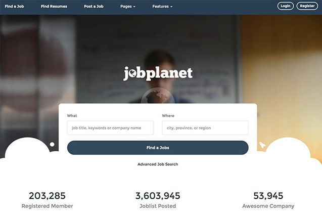 Jobplanet simple job portal html5 website template Job Board - resume posting sites
