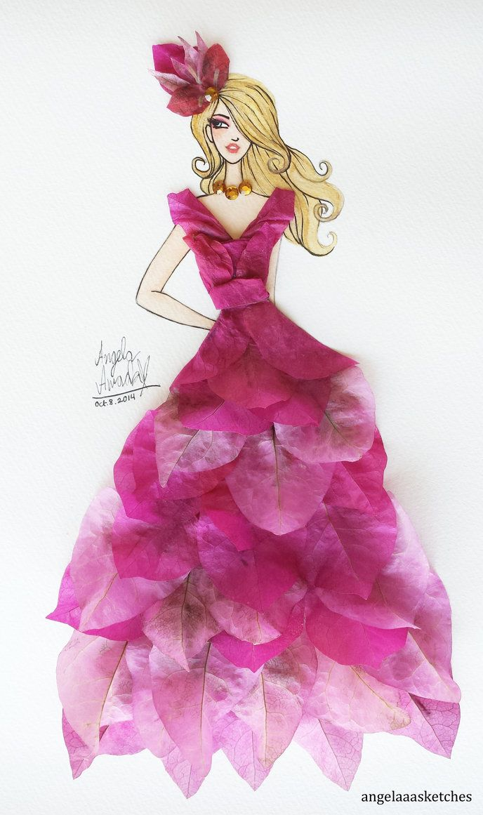 Flower Fashion 9 by angelaaasketches on DeviantArt  Angelaaasketches  Pinterest ...