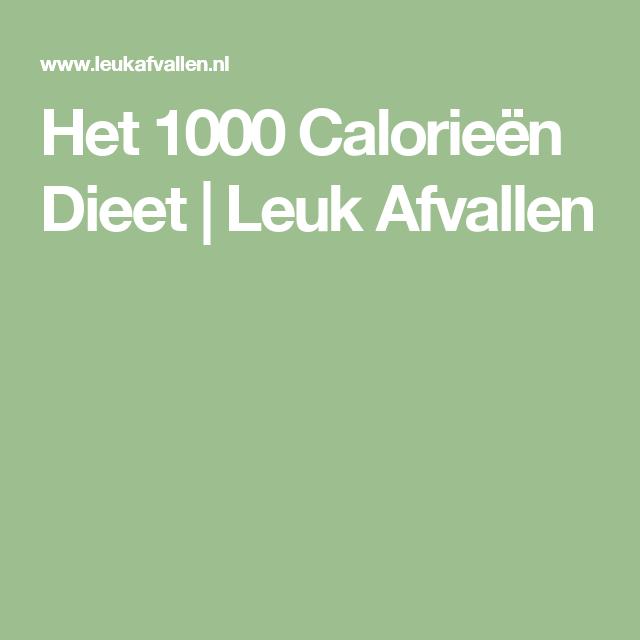 1000 calorieen dieet lijst