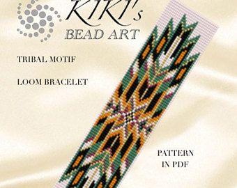 Bead Loom Pattern Tribal Motif Loom Bracelet Pattern