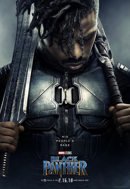 Image result for black panther poster killmonger