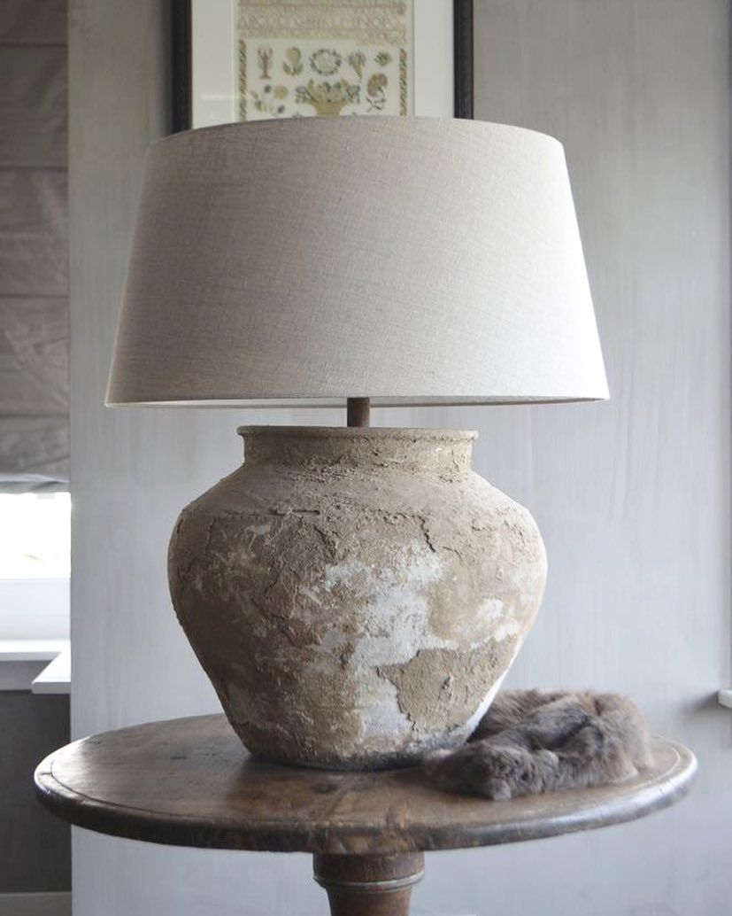 Rustic Modern Bucolic Table Lamp From Filament Lighting Table