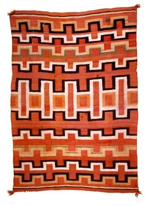 """Transitional"" Navajo woven blanket"