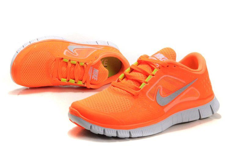 on sale 60005 d9a74 Nike Free Run 3 Orange Silver | TÊNIS | Nike free shoes, Nike free ...