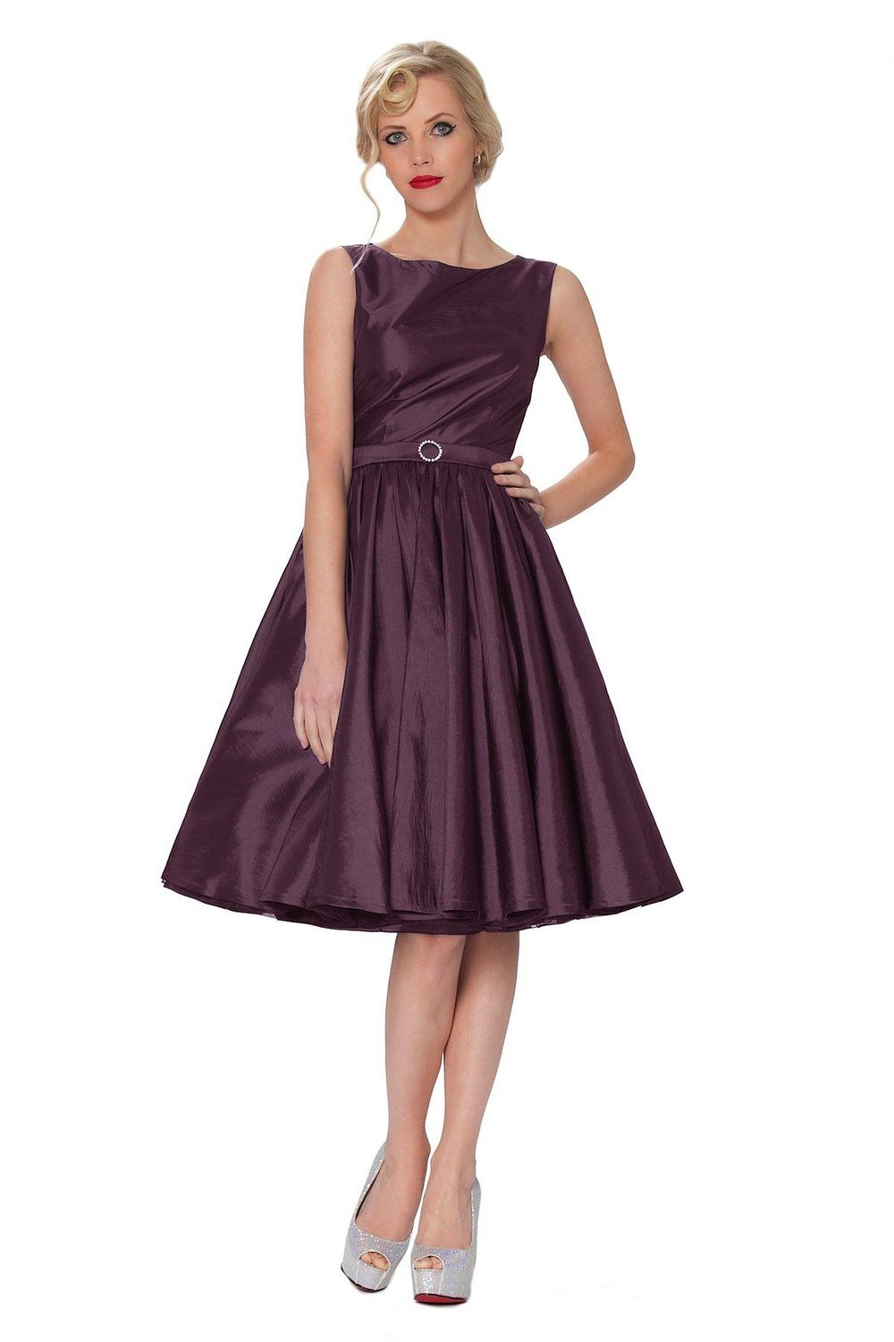 Sexyher audrey hepburn style 1950s rockabilly swing dress sexyher audrey hepburn style 1950s rockabilly swing dress rbj1401 at amazon womens clothing store ombrellifo Image collections