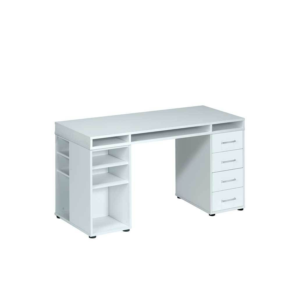 Einzigartig Schreibtisch Weiß Mit Schubladen Ideen Von Pc In Weiß Glas Jetzt Bestellen Unter: