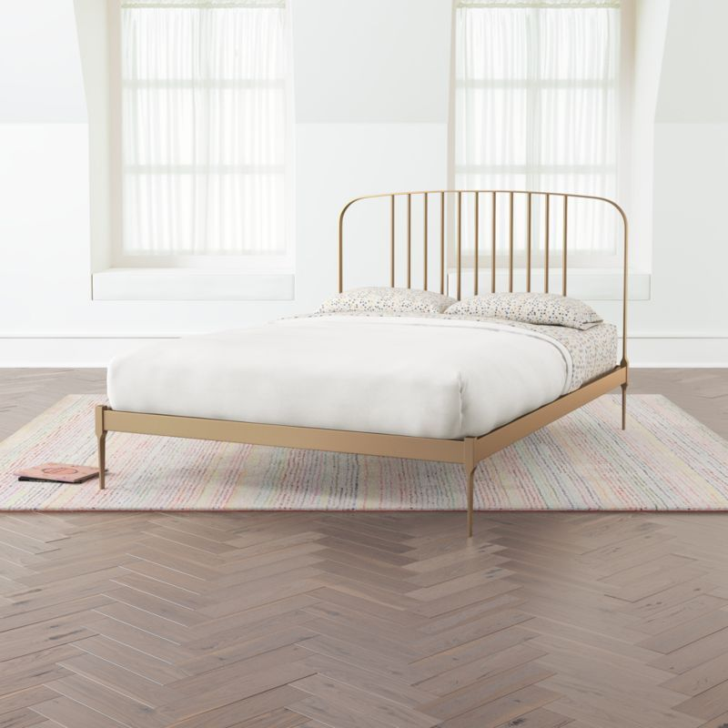 Larkin Twin Gold Bed Frame Reviews Crate And Barrel Gold Bed