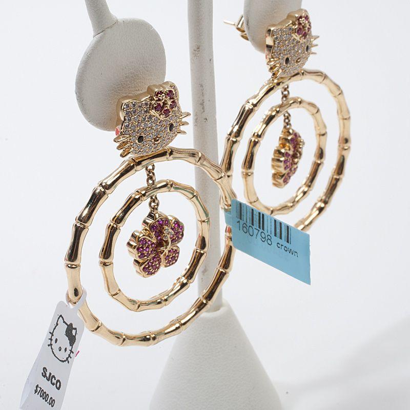 gold hello kitty jewelry | Hello Kitty Simmons 18k Gold Diamond ...