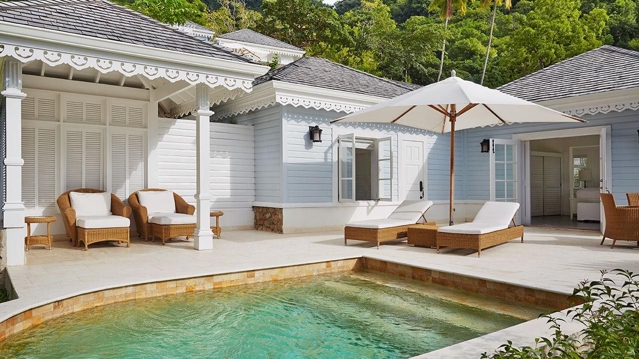 St Lucia Viceroy Sugar Beach All Inclusive Resort Superior Luxury Cottage With Butler Private Plunge Pool