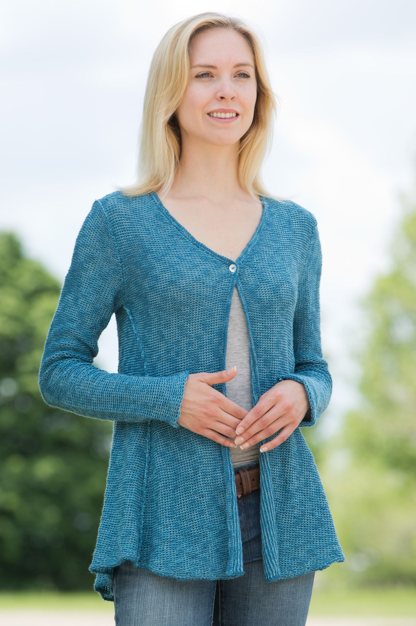 Women's Sheer Organic Cotton Cardigan #37895 (available in 2 ...