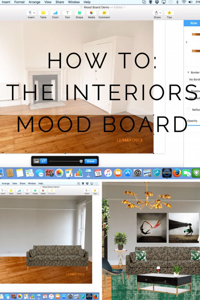 How To Create An Interiors Mood Board With No Fancy Apps Programs