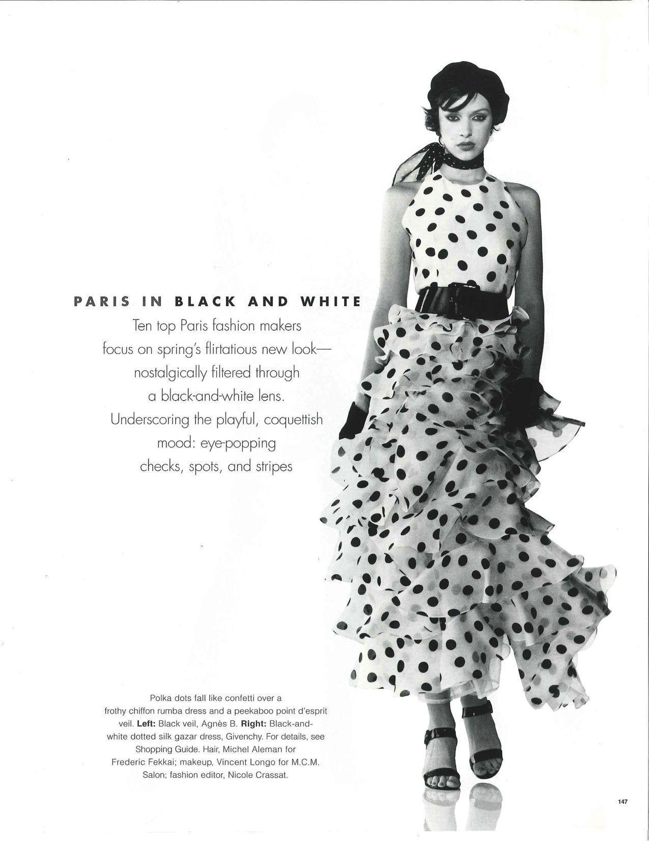 """Paris in Black and White""  Patricia Hartmann by Gilles Bensimon"