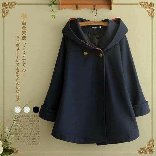 Girls Winter Warm Cloaks Fleece Hooded Coat Cape Batwing Sleeve Solid Cute Sweet