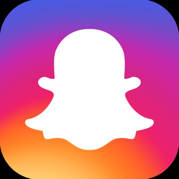 logo instagram snapchat