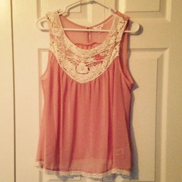 NWT! Candies pink camisole with lace, size XL NWT! Candies pink camisole with lace, size XL Candie's Tops Camisoles