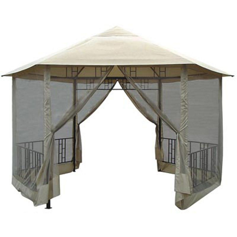 Patios · Have To Have It. Hexagon Gazebo With Insect Screen   $307.4  @hayneedle