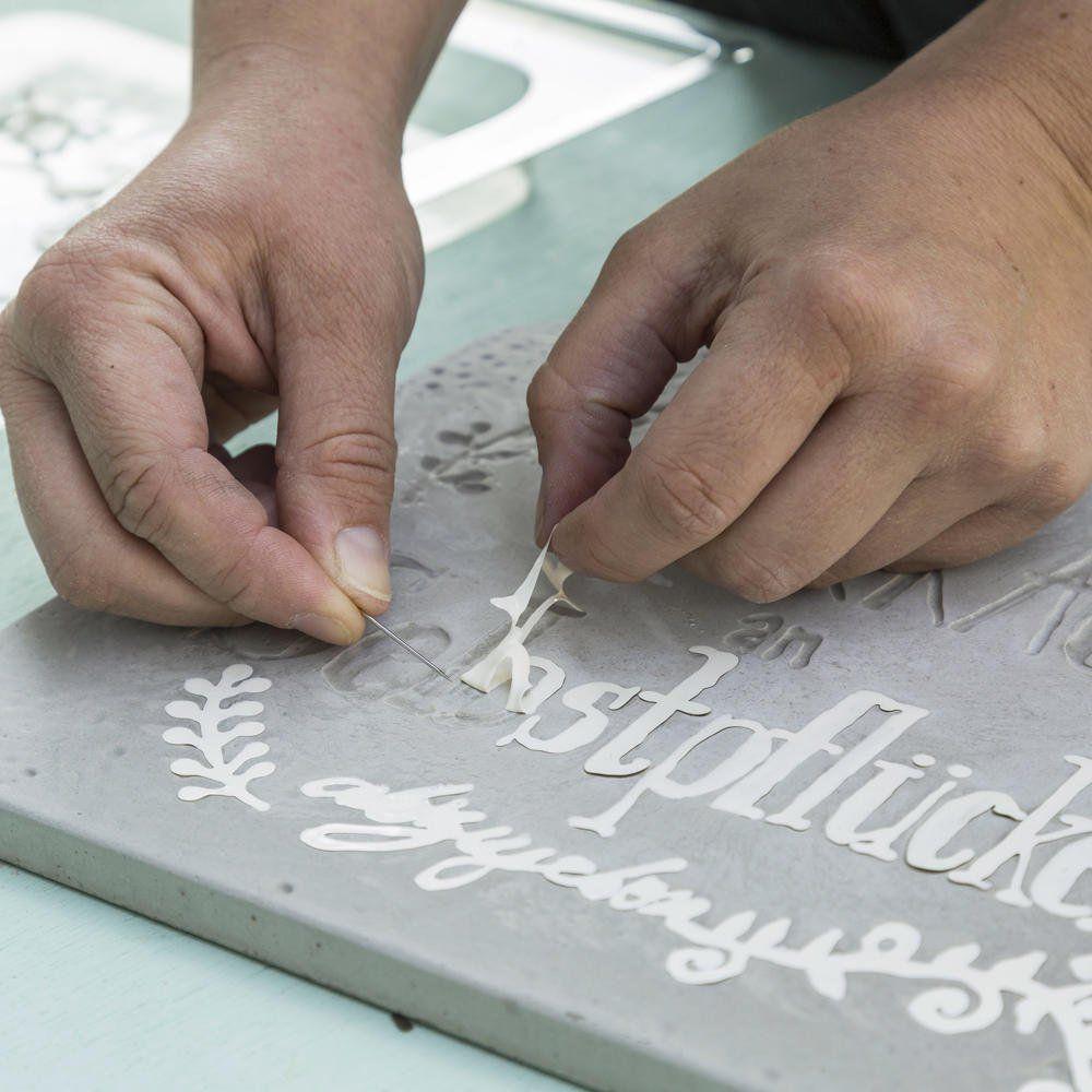 gartenschilder aus beton selber machen | garten | pinterest