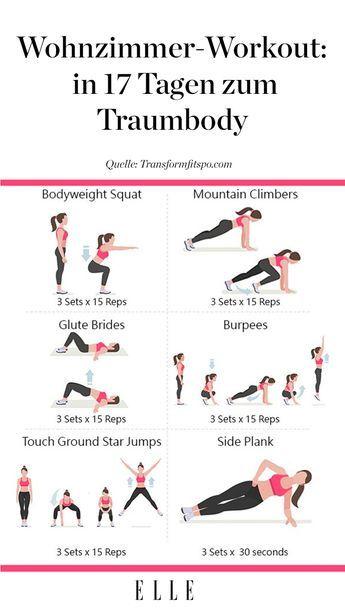 Wohnzimmer-Workout: So stählst du deinen Body zu Hause #fitnessexercisesathome