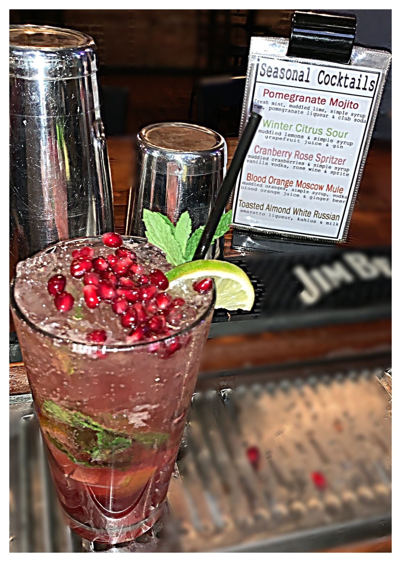 Pin By Kyleigh Garbrick On The Brickyard Restaurant Ale House Pomegranate Mojito Toasted Almonds Spritzer