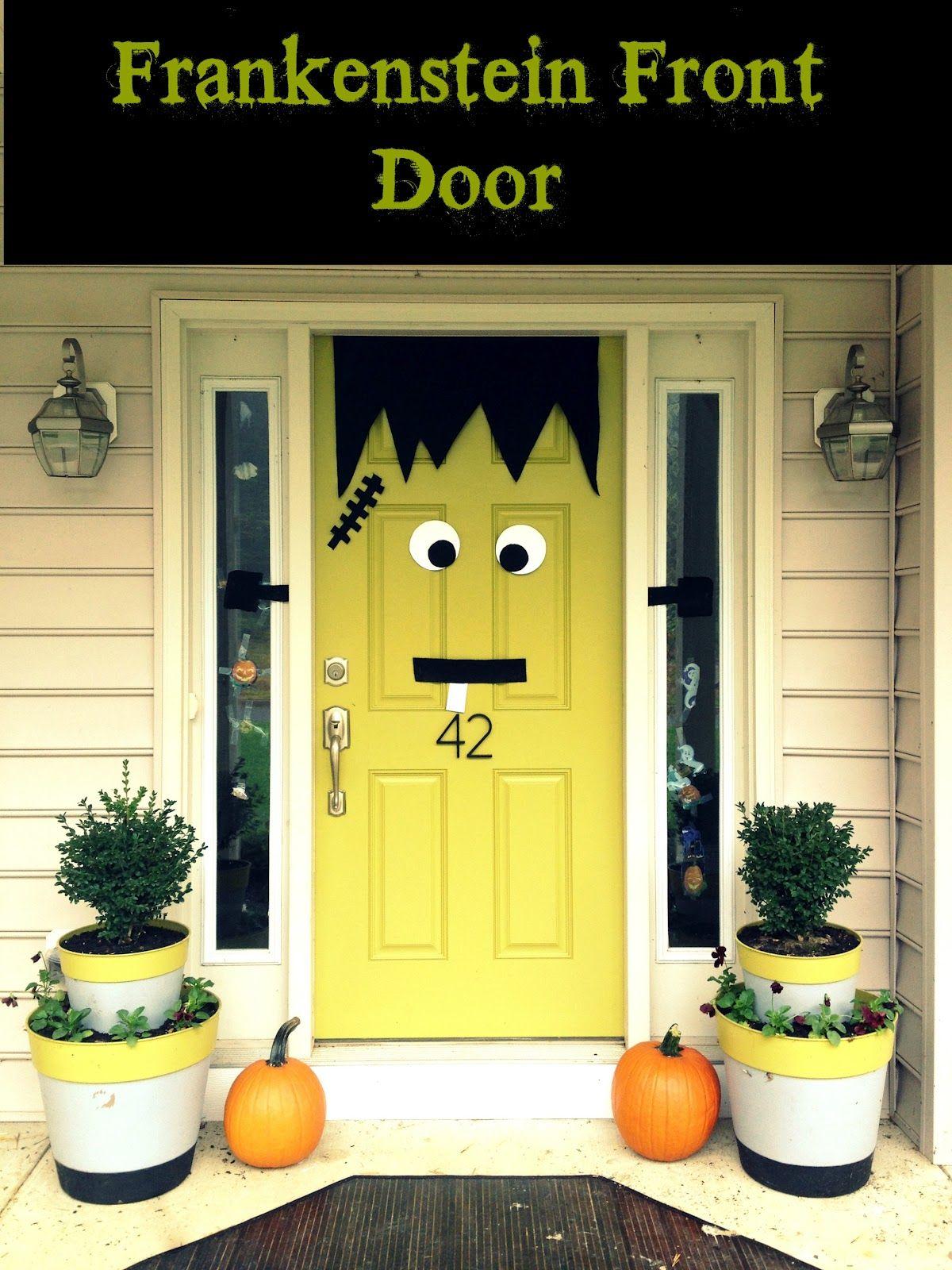 Frankenstein Front Door Fall/Halloween Pinterest Frankenstein - cubicle halloween decorations
