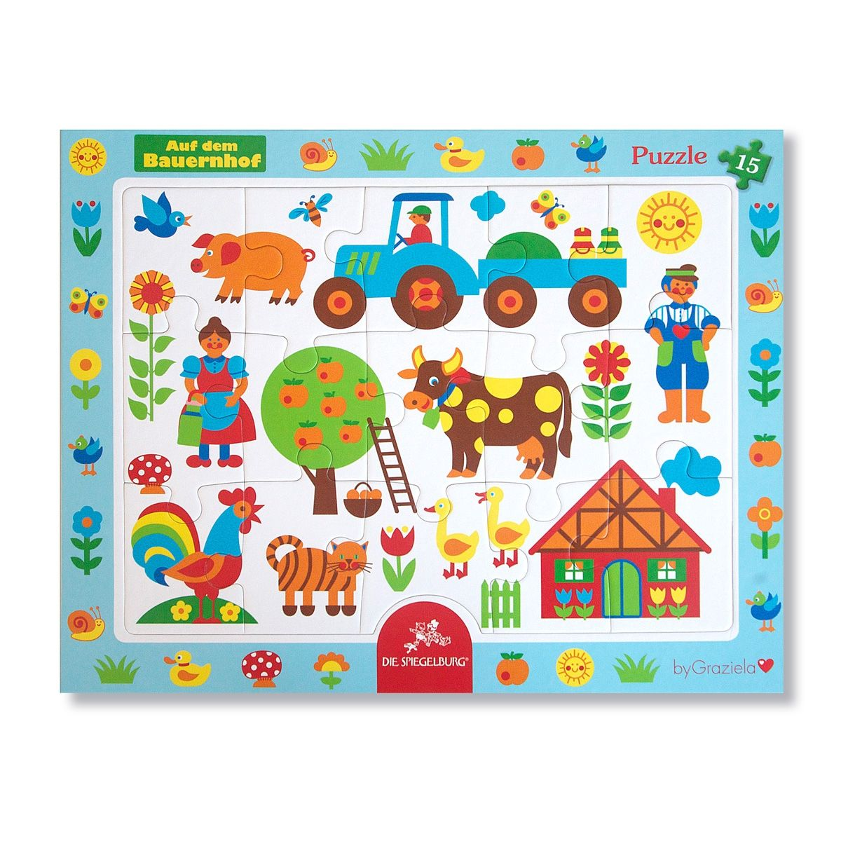 "Bauernhof Rahmenpuzzle / Puzzle ""on the farm"". This perfect little gift makes everyone happy!"