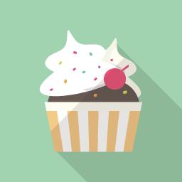 カップケーキ イラスト の画像検索結果 カップケーキ イラスト フラットデザイン フェルトフラワー